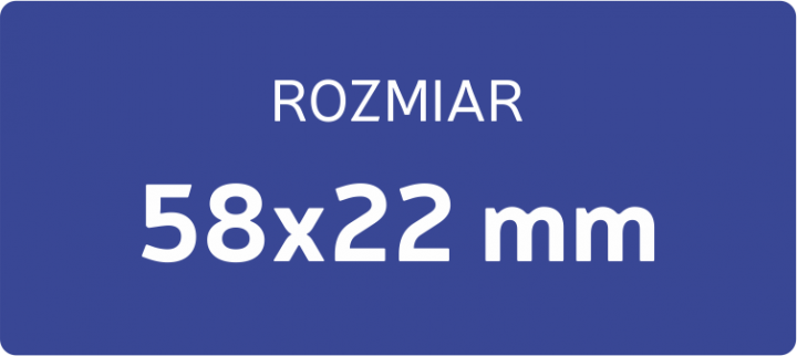 POLIMER DO PIECZĄTKI 58x22 mm